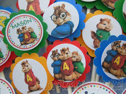 alvin and the chipmunks cake toppers alving and chipmunks alvin chipmunks the chipettes