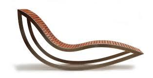 design liege moderne sonnenliege holz edelstahl wipp dondola david
