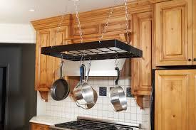 kitchen pots and pans organizer hanging kitchen pot rack
