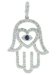 evil eye hand bracelet images 1 14ct pave diamond sapphire evil eye heart shape hamsa hand jpg