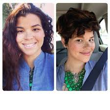 short pixie haircuts for curly hair haircut on long curly dark hair to a pixie hair youtube