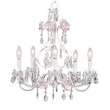 Childrens Pink Chandelier Blossom Chandelier In Pink And White And Nursery Necessities In