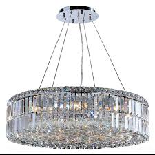 Chrome Crystal Chandelier by Contemporary 12 Light Chrome Finish And Faceted Clear Crystal