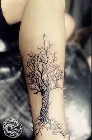 geometric tree design tattooshunter com