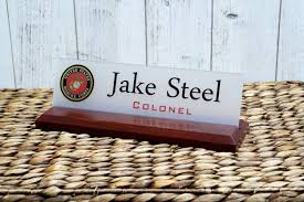 military name plate desk nameplate air force navy army coast guard sign makes a great gift 10 x 2 5