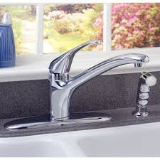 connoisseur 1 handle kitchen faucet with separate side spray
