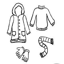 clothes coloring pages winter clothes coloring pages crafts and worksheets for