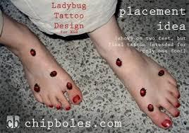 many small ladybugs tattoos pm