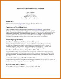 resume objective examples retail sample resume resume retail s