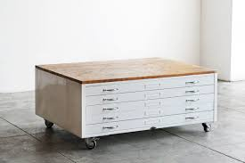Black Wood Filing Cabinet by Flat File Coffee Table In High Gloss White With Reclaimed Wood