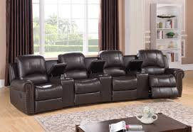 Four Seater Recliner Sofa Furniture Theater Living Room Furniture In Home Theater