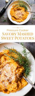 pressure cooker savory mashed sweet potatoes pressure cooking today