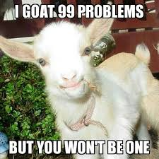 99 Problems Meme - i goat 99 problems but you won t be one funny goat meme
