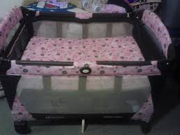Pink And Brown Graco Pack N Play With Changing Table Family Sale60181 S Garage Villa Park Nursery Bedding And Nursery