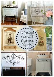 14 vintage cabinet and cupboard projects the graphics fairy