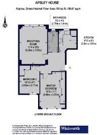 Apsley House Floor Plan 2 Bedroom Flat For Sale In Apsley House Finchley Road Nw8 Nw8