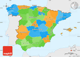 maps of spain political simple map of spain single color outside