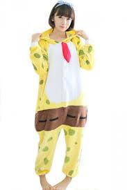 jumpsuit costume yellow pretty flannel spongebob jumpsuit costume