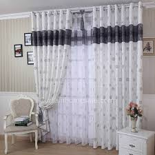 casual burlap black print room darkening fancy curtains and drapes
