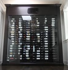 build your own refrigerated wine cabinet west vancouver custom glass wine cabinet