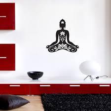 stickers muraux chambre fille ado sticker muraux zen sticker mural bouddha assis ambiance