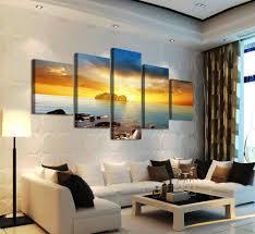Peinture Moderne Pour Salon by Achetez En Gros Coucher Du Soleil Peinture U0026agrave L U0026 39 Huile En