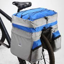 best cycling waterproof roswheel 60l waterproof bicycle bag panniers double side rear rack