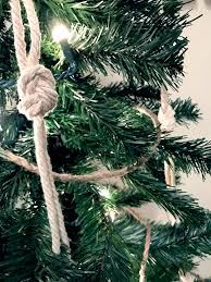 nautical knot garland diy coastal christmas tree inspiration