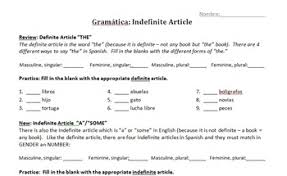 la familia spanish family and indefinite articles week unit by