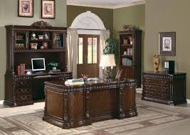 Home Office Double Desk by Tucker Home Office Desk Set In Rich Brown