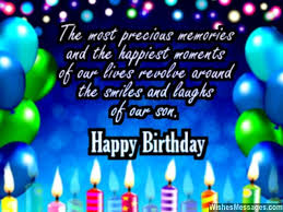 birthday wishes for son quotes and messages u2013 sms text messages
