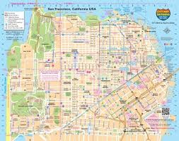 san francisco map san francisco transport map