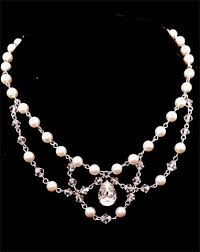 wedding necklace pearls images Wedding necklaces pearl drape pear crystal josephine kezani jpg
