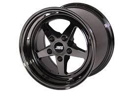 Black Mustang With Black Rims Jms Mustang Avenger Series Rear Wheel Black Chrome 15x10 94