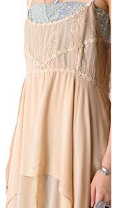 free people pieced lace tunic in natural lyst