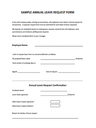 Exle Letter Request Annual Leave leave request form template city espora co