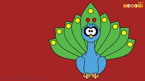 peacock desktop wallpapers for kids mocomi