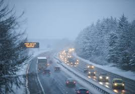 Snow Scotland Uk Weather Cars Trapped On Motorway As Heavy Snow Hits Scotland