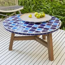 mosaic tiled coffee table decorator print top west elm