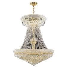 Crystal Chandeliers Worldwide Lighting Empire 28 Light Gold Crystal Chandelier