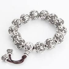 bead bracelet silver images Tibetan silver six words mantras beads bracelet openchakraenergy jpg
