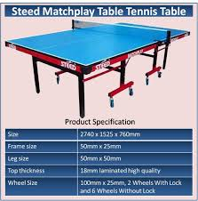 What Are The Dimensions Of A Ping Pong Table by Specification Of Table Khelmart Org It U0027s All About Sports