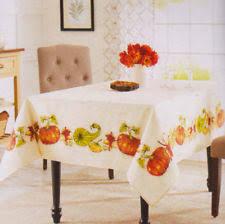 fall harvest pumpkin tablecloth 60 x 102 ivory thanksgiving ebay