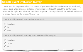 event evaluation survey sample easy effective insightful