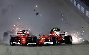 formula 4 crash sebastian vettel out of singapore grand prix following dramatic
