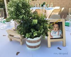centerpieces for baby showers rustic white green baby shower mrs alex paul