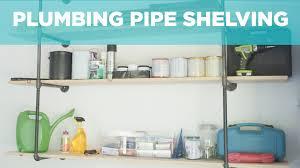diy plumbing pipe shelves video diy