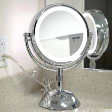 lighted magnifying makeup mirror makeup mirror lighted reviews cordless dual sided led vanity silver