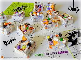 scary halloween candy bowl sugar swings serve some scary toss it all in halloween fudge