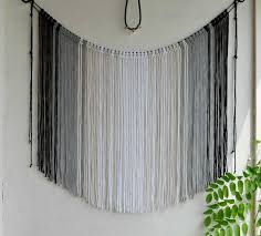 large macrame wall hanging ombre macrame curtain bohemian